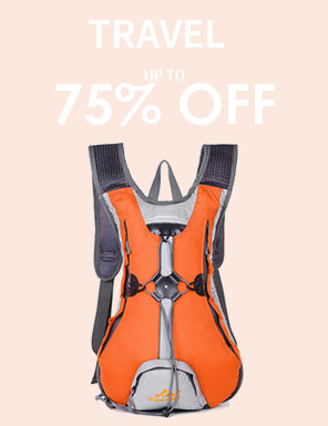 75% off travel items