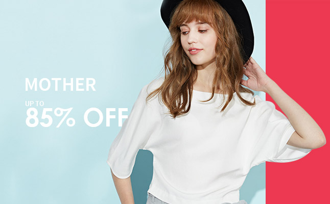 85% off mother items
