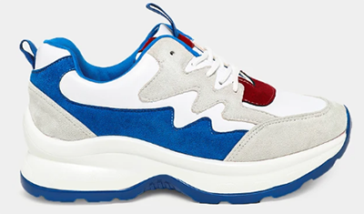 Down to  £5 Blue White Pull Tabs Colour Block Trainers
